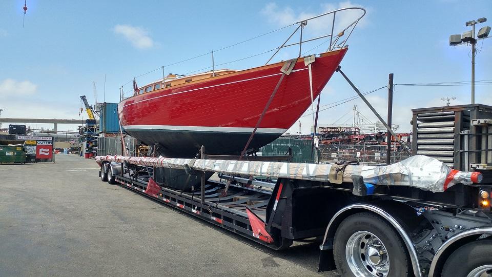 Wooden Sailboat Transport