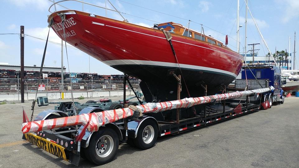 Wooden Sailboat Moving