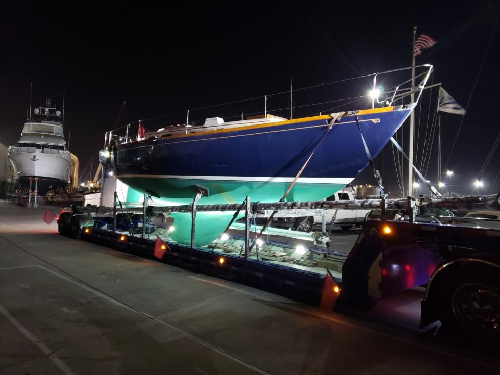 Hinckley Boat Hauling