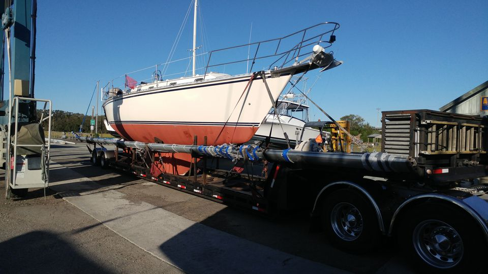 sailboat transport, sailboat movers, marine transport, we will transport it