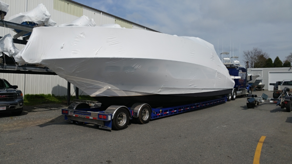 yacht delivery, yacht transport, marine transport, boat transport, Sea Ray 510