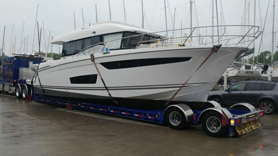 Jeanneau Velasco 43, boat transport, marine transport, boat transport pros, boat transport company