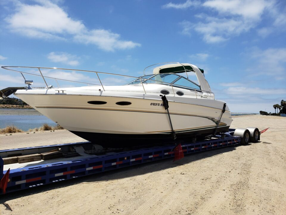 boat movers, boat transport, Sea Ray 290, marine transport, yacht delivery, yacht transport