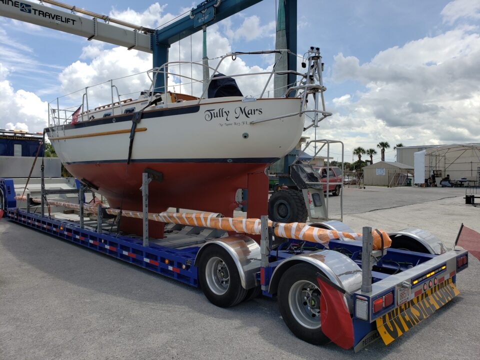 sailboat transport, yacht transport, yacht delivery, marine transport, boat shipping, boat hauling service