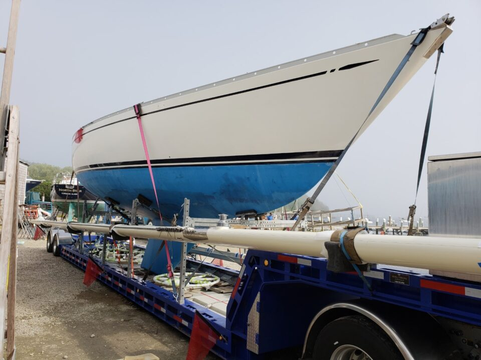 Swan 431, boat transport, boat shipping, boat transport service, boat transport pros