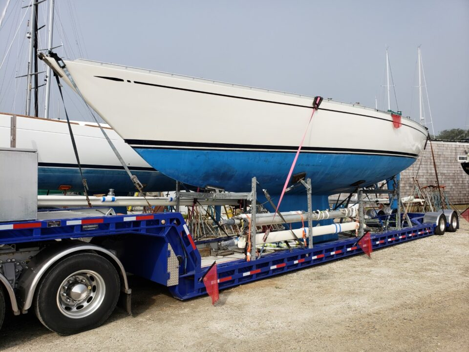 sailboat transport, sailboat movers, Swan 431, yacht delivery, yacht transport, marine transport