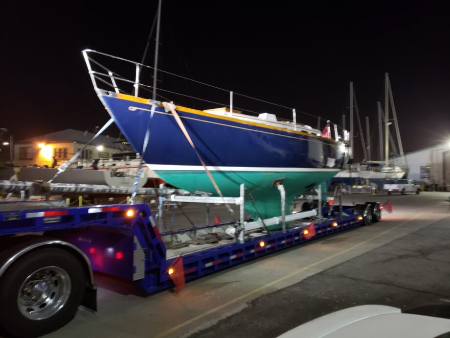 Hinckley H38, sailboat movers, sailboat transport, yacht delivery, yacht transport, marine transport