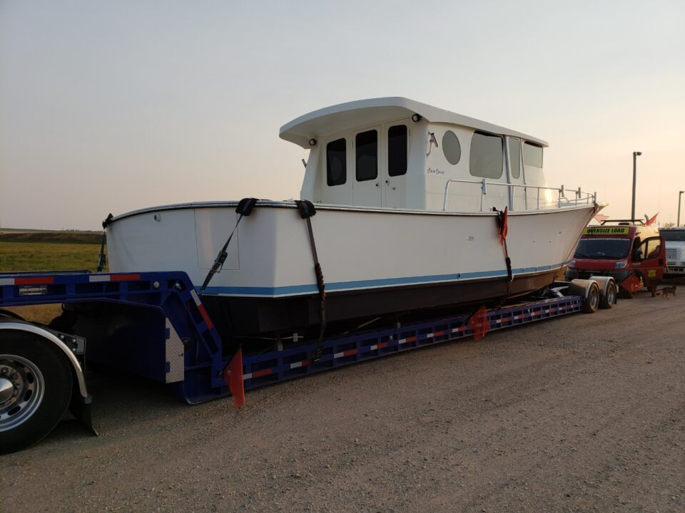 boat shipping, boat transport cost, boat hauling service, Henriques Maine Coaster 42